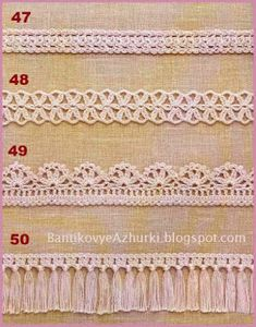 crochet home: crochet edges Irish Lace, Crochet Home, Thread Crochet, Four Seasons, Crochet Clothes, Mittens, Elsa, Crochet Necklace, Cross Stitch