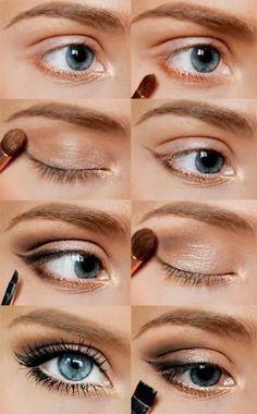 comment maquiller les yeux bleus, nos idées pour les yeux bleus