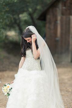 Sparkles and ruffles. Modern day princess wedding dress.