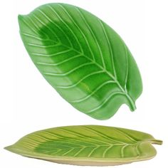 Banana+Leaf+Plate | Green Celadon Banana Leaf Plates  sc 1 st  Pinterest & 26-Piece Melamine Dinnerware Banana Leaf Plates Green Set (FDA ...