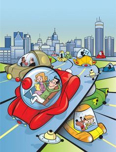 Future of the Automobile. Illustration by Remy Simard. Represented by i2i Art Inc. #i2iart