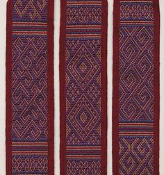 Motifs from Sulawesi on a silk band, made by Marijke van Epen