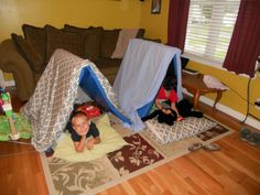 Toy Story- We made tents to watch the movie