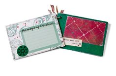 """This is supposed to be a small album but I love  the idea of using the pages as journal boxes. They are 4 1/2"""" x 6 1/2"""""""