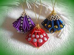 Новогодние игрушки на ёлку своими руками, ёлочные игрушки шарики канзаши, Лерита. - YouTube