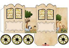 La Selva: Caja con forma de Carruaje para Imprimir Gratis.