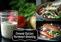 Creamy Italian Parmesan Dressing   Aunt Bee's Recipes