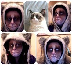 grumpy cat halloween costume   grumpy cat costume - for Lindsey - who does not resemble the grumpy ...