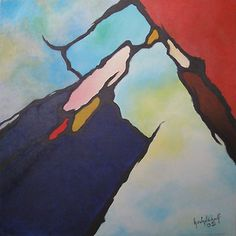 100 x 100 cm; acrylic on canvas; Vertigo; Painting by Henk Schellekens; Sold