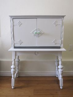 upcycled secretary desk / cabinet by rehabhome on Etsy, $250.00