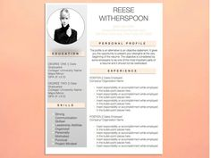 Resume template is professional, elegant and in a simple and easy to use Microsoft Word format (Mac and PC). Our templates download instantly
