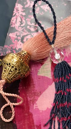Beaded tassels in exclusive color palettes, brass capped silk tassels in a variety of colors that coordinate with SmithHönig's peel and stick wallpaper and fabric by the yard. Also available: decorative throw pillows, acrylic art blocks, art prints on metal, vintage textiles and more.