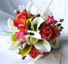 """tropical"" wedding flowers"