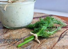 Homemade Kefir Ranch Dressing {with fresh dill} Kefir Recipes, Yummy Recipes, Vegan Recipes, Ranch Dressing Recipe, Paleo Appetizers, Fresh Dill, Living A Healthy Life, Home Food, Everyday Food
