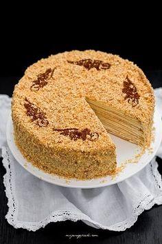 Marcinek - in Polish Sweet Desserts, Holiday Desserts, Sweet Recipes, Cake Recipes, Polish Desserts, Polish Recipes, Polish Food, Polish Cake Recipe, My Favorite Food