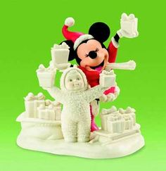 Snowbabies® Disney Look What We Have For Mickey Mouse