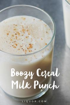 This magical #boozy cereal milk punch is the #treat you need to be sipping on this Fat Tuesday