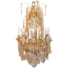 Magnificent antique french baccarat crystal chandelier circa 1850 very fine french louis xv dore bronze and crystal baccarat 12 arm chandelier aloadofball Image collections