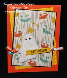 """~ ~ ~Jayne Stamps ~ ~ ~ Fun card with the """"Fall Fest"""" stamp set."""