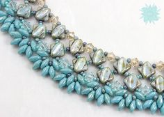 Silky Diamond Collar Necklace Tutorial Two by DesertStarCreations                                                                                                                                                                                 More