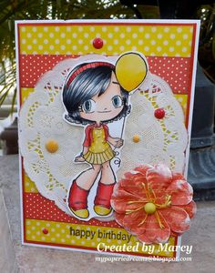 Loves Rubberstamps Blog: Happy Birthday! using Some Odd Girl