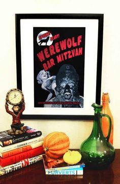 This very spooky Werewolf Bar Mitzvah print.