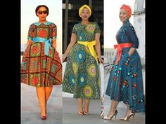Top 50+ African Print Dresses: Stylish African Print Dresses For The Cuties - YouTube