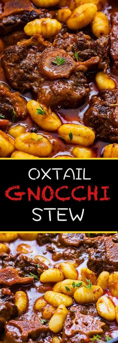 and Gnocchi Stew This oxtail gnocchi stew is the perfect beef stew. It is rich and indulgent and also very flavorful. Make it today!This oxtail gnocchi stew is the perfect beef stew. It is rich and indulgent and also very flavorful. Make it today! Top Recipes, Beef Recipes, Cooking Recipes, Oxtail Recipes Crockpot, Recipies, Crockpot Meals, Vegan Recipes, Beef Meals, Fast Recipes