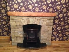 Henley stove with stone fireplace Decor, Stone Fireplace, Stove, Stone, Stanley Stove, Home Decor, Fireplace