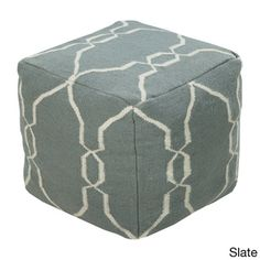 Hand Crafted Mila Lattice 18-inch Square Pouf | Overstock™ Shopping - Great Deals on Throw Pillows