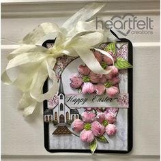 Heartfelt Creations - Pink Dogwood Floral Easter Tag Project