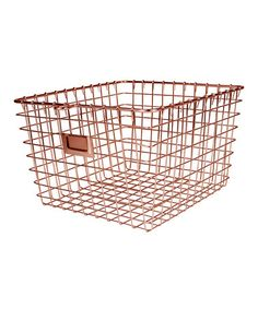 Copper Large Storage Basket #zulily #zulilyfinds