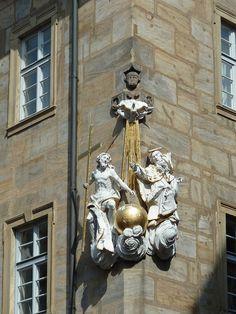 Bamberg, Germany, Corner Sculpture