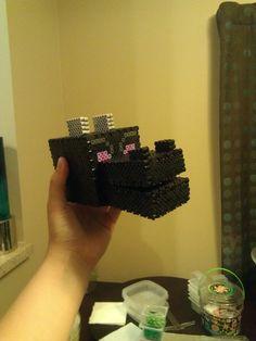 3d minecraft perler bead patterns | HUGE! Minecraft Ender Dragon Made of Perler Beads