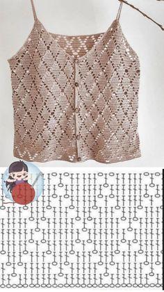 Minimalist Fashion Must Haves .Minimalist Fashion Must Haves Mode Crochet, Crochet Diy, Crochet Woman, Crochet Diagram, Crochet Chart, Crochet Stitches, Gilet Crochet, Crochet Blouse, Knitting Patterns Free