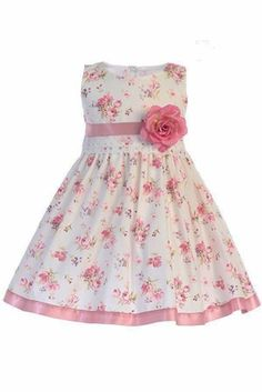 bed4641db00 Swea Pea   Lilli M734 Cotton Floral Dress w  Satin Trim
