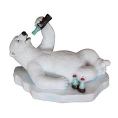 Coca-Cola Polar Bear Lying on Back