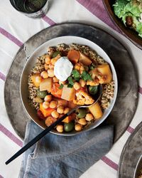 75 best moroccan recipes images on pinterest moroccan recipes root vegetable and cauliflower tagine with parsley yogurt forumfinder Images