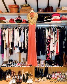 A glimpse inside fashion designer Alice Temperley's closet in her Notting Hill loft #closet #organization #wardrobe