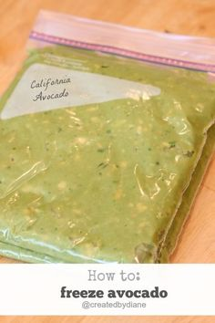 How to freeze avocado @createdbydiane