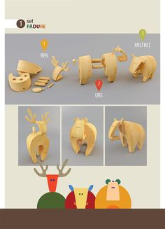 Animal Habitat Wooden Toys by Maya Ciubotaru, via Behance