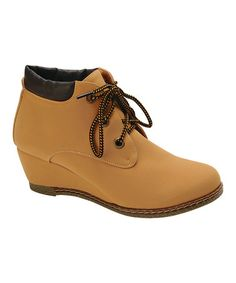 Loving this Wheat Willow Wedge Ankle Bootie on #zulily! #zulilyfinds