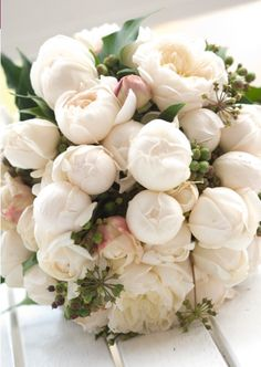 White peony #wedding bouquet