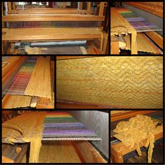 My latest weaving using Elk Hide leather to create this 4x7 rug for the home!