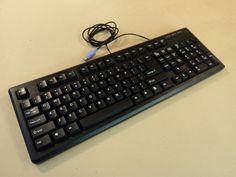 DCT Factory OG Deluxe Desktop Computer Keyboard PS2 Black PS/2 KBJ-006B -- Used
