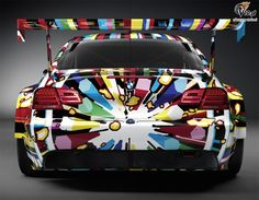 Colourful vehicle wrap