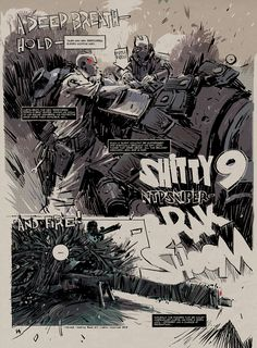 """5th episode of World War Robot's comic series """"The Shitty 9"""" can now be read online! http://www.worldofthreea.com/threea-production-blog/zlfm6whshlnkfra78k3p5slklc3cf3  1/12th scale toys of the Shitty 9 corp are now on sale exclusively at GoodSmile Online Shop! (shipping worldwide): http://goodsmileshop.com/en/CATEGORY-ROOT/ThreeA-%3CTHE-SHITTY-9%3E/c/360?site=goodsmile-global&lang=en #threeA #AshleyWood #AshleyWoodArt #WorldOf3A #WO3A #WWR #WWRp #WorldWarRobot #TheShitty9 #Shitty9"""