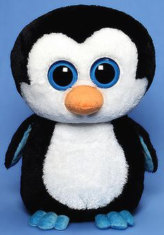 Waddles Beanie Boo is our adorable, unique, cool, crazy big eyed and a super soft plush penguin as only Ty can make it. Yes, our Ty Waddles Beanie Boo Penguin from Ty's Beanie Boo Collection is now av