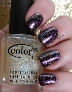 Color Club Si Vous Please!, The Uptown, Winter Affair | Be Happy And Buy Polish http://behappyandbuypolish.com/2014/10/18/notd-color-club-winter-affair-the-uptown-si-vous-please/