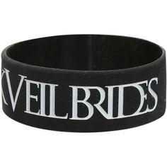 Best Bracelet 2017/ 2018 : Black Veil Brides I (Heart) Rubber Bracelet   Hot Topic (477)  liked on P